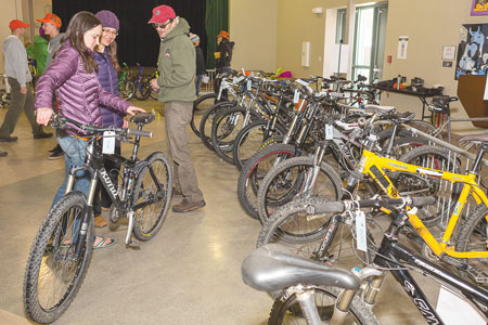 "BIKE SWAP:  CBCS PTA hosted their annual ""Save the Wheels"" bike swap fundraiser on Sunday, May 17.  photo by Lydia Stern"