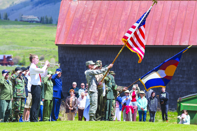 ANNUAL TRADITIONS:  Crested Butte's Memorial Day Parade proceeded down Elk Avenue and to the cemetery on Monday, May 30. See more photos on page 18.  photo by Lydia Stern