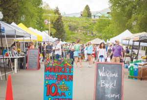 LOCAL AND FRESH: The Farmers Market is now open on Sundays at the top of Elk Avenue. photo by Lydia Stern
