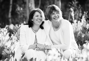CONGRATULATIONS!:  Susie Helmerich and Tanya Haave were married among close family on June 23, 2016.      photo by Alison White