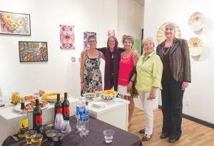 ARTIST OPENING:  An art reception for Art Studio instructors was held at the Piper Gallery on Monday, September 13 featuring their collection of art in Perspectives: 2016.  photo by Lydia Stern