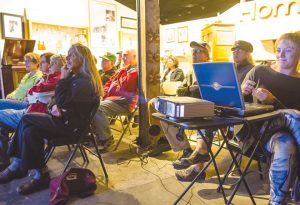 ILLUMINATIONS SLIDESHOW: Photos of the past and present highlighting sports and recreation in Crested Butte were projected at the Crested Butte Heritage Museum on Tuesday, October 11. photo by Lydia Stern
