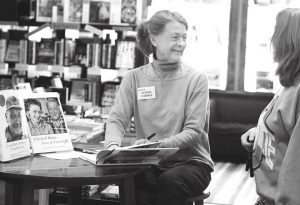 LOCAL AUTHOR:  Sandra Cortner signed copies of her books about Crested Butte at Townie Books. Both of Cortner's publications delve deep into Crested Butte's rich and entertaining history.  photo by Brandon Johanns