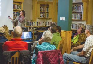 CUBA TRAVELS:  The Old Rock Library hosted a presentation about Cuba given by local travelers on Thursday, November 3.  photo by Lydia Stern