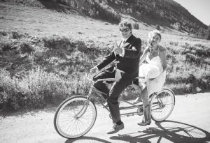 CONGRATULATIONS:  Theresa Snyder and Willy Truettner were married on September 10, 2016 at the Budd Ranch out the Lower Loop. The ceremony was followed by possibly the largest townie takeover in recent memory, where the wedding party and guests biked through town to party down at the Town Ranch.  courtesy photo