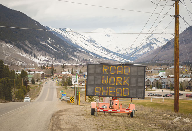 road work prepping entrance to town the crested butte news. Black Bedroom Furniture Sets. Home Design Ideas